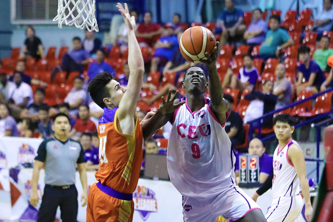 Tiebreaker Times 7-man CEU Scorpions gut it out against stacked Go for Gold-CSB to advance to semis Basketball CSB News PBA D-League  TY Tang Roosevelt Adams Rich Guinitaran Maodo Malick Diouf Jerome Santos Go for Gold-CSB Gab Banal Derrick Pumaren CEU Scorpions 2019 PBA D-League Season