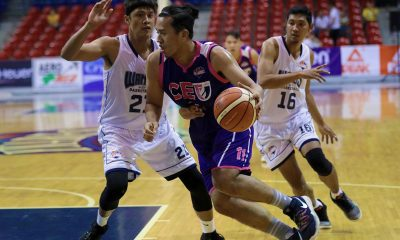 Tiebreaker Times Tyron Chan drops 32 as CEU inches closer to Foundation Group top seed Basketball News PBA D-League  Wangs Basketball Couriers Rey De Mesa Pierce Chan Pablo Lucas Malik Diouf Julian Pallatao Judel Fuentes Derrick Pumaren Daryl Singontiko CEU Scorpions 2019 PBA D-League Season