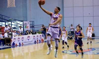 Tiebreaker Times Roosevelt Adams continues heater run as Go for Gold-CSB staves off Petron-Letran Basketball CSB CSJL News PBA D-League  Yankie Haruna Unique Naboa Roosevelt Adams Petron-Letran Knights Jerrick Balanza Jeo Ambohot Go for Gold-CSB Clement Leutcheu Charles Tiu Bonnie Tan Alvin Pasaol