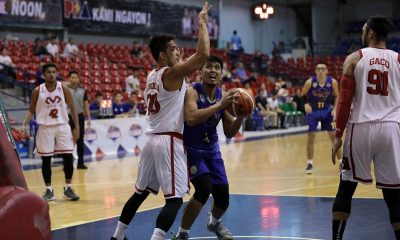 Tiebreaker Times Darwin Lunor breaks out as St. Clare snaps two-game skid at McDavid's expense Basketball News PBA D-League  St. Clare-Virtual Reality Saints Ryusei Koga Mohammed Pare McDavid Junjie Hallare Jinino Manansala Harold Arboleda Darwin Lunor Allan Trinidad 2019 PBA D-League Season