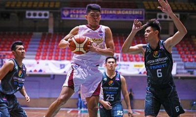 Tiebreaker Times Tonton Peralta carries short-handed, struggling Perpetual past Trinity for 2nd win Basketball News PBA D-League UPHSD  Tonton Peralta The Masterpiece-Trinity Stallions Perpetual Seniors Basketball John Tayongtong Jielo Razon Jefner Egan Frankie Lim Edgar Charcos Bobby Bulacanag Alvin Grey 2019 PBA D-League Season