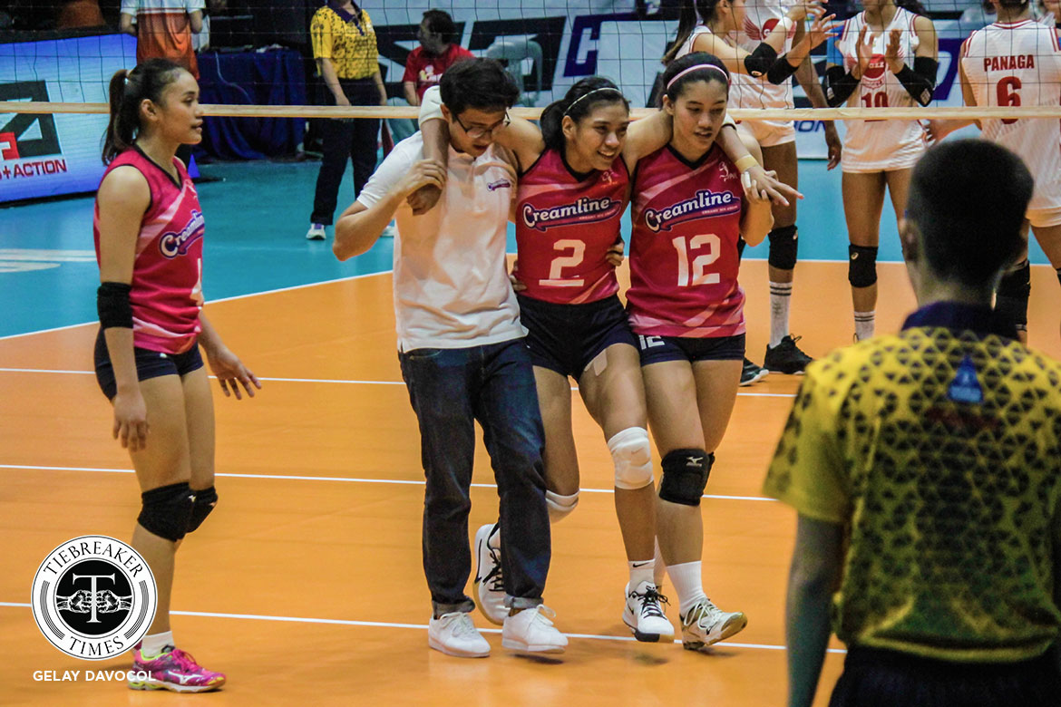 Tiebreaker Times Alyssa Valdez relieved as Creamline ends opening day curse News PVL Volleyball  Creamline Cool Smashers Alyssa Valdez 2019 PVL Season 2019 PVL Reinforced Conference