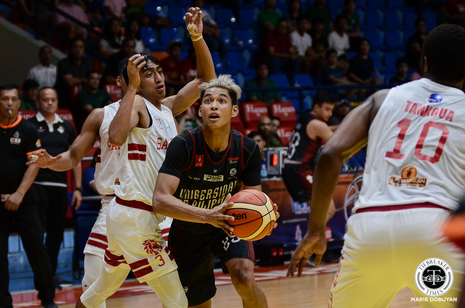 Tiebreaker Times Ricci Rivero laments foul calls as his UP debut in Filoil ends early Basketball News UP  UP Men's Basketball Ricci Rivero 2019 Filoil Flying V Preseason Cup