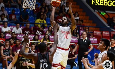 Tiebreaker Times San Beda spoils Ricci Rivero's, Kobe Paras' UP debut in Filoil Basketball News SBC UP  UP Men's Basketball San Beda Seniors Basketball Ricci Rivero Kobe Paras James Spencer James Canlas Donald Tankoua Bo Perasol 2019 Filoil Flying V Preseason Cup