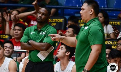 Tiebreaker Times Gian Nazario to serve as La Salle head coach until further notice Basketball DLSU News  Jermaine Byrd Gian Nazario DLSU Men's Basketball Aljun Melecio 2019 Filoil Flying V Preseason Cup