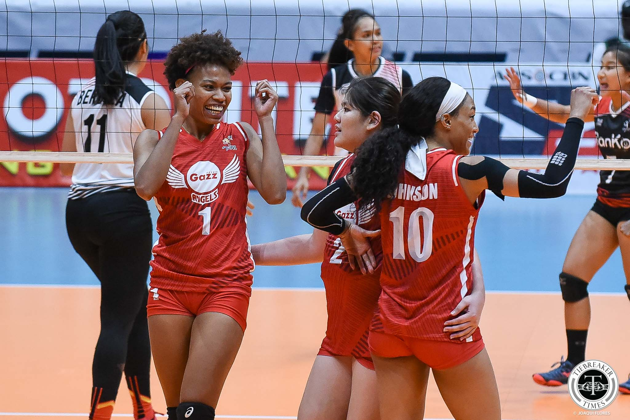 Tiebreaker Times Petro Gazz rolls past shorthanded Motolite to go to 3-0 News PVL Volleyball  Wilma Sales Petro Gazz Angels motolite power builders Janisa Johnson Djanel Cheng Cienne Cruz Channon Thompson Arnold Laniog Air Padda 2019 PVL Season 2019 PVL Reinforced Conference