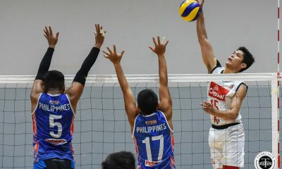 Tiebreaker Times Marck Espejo, Cignal hand Rebisco-Philippines first loss News Spikers' Turf Volleyball  Ysay Marasigan Vince Mangulabnan Sta. Elena Wrecking Balls Rebisco-Philippines PLDT Home Fibr Power Hitters PJ Rojas Philippine Coast Guard Dolphins Philippine Army Troopers Nico Almendras Mark Alfafara Marck Espejo Johnvic De Guzman James Natividad Fauzi Ismail Esmail Kasim Cignal HD Spikers Antonio Torres 2019 Spikers Turf Season 2019 Spikers Turf Reinforced Conference