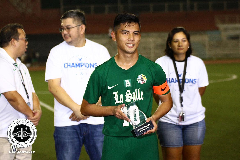 UAAP-81-MFB-Awards-Best-Midfielder-Diamante Jed Diamante blows final whistle on La Salle career DLSU Football News UAAP  - philippine sports news