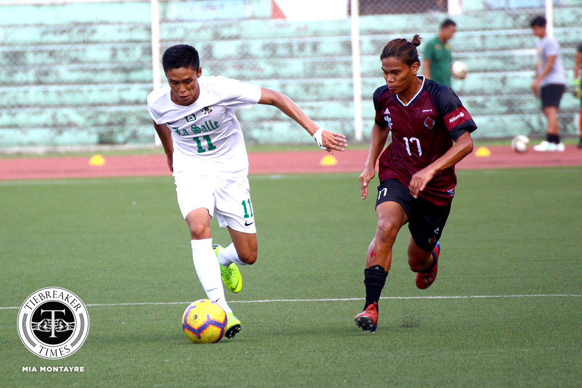Tiebreaker Times Shanden Vergara epitomizes rookie roles in La Salle's surge to Final DLSU Football News UAAP  UAAP Season 81 Men's Football UAAP Season 81 Shanden Vergara DLSU Men's Football Alvin Ocampo