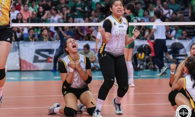 Tiebreaker Times Eya Laure shows nerves of steel as UST Tigresses end La Salle's 10-year Finals run DLSU News UAAP UST Volleyball  UST Women's Volleyball UAAP Season 81 Women's Volleyball UAAP Season 81 Sisi Rondina Rica Rivera Ramil De Jesus Kungfu Reyes Jolina Dela Cruz Eya Laure DLSU Women's Volleyball Des Cheng Alina Bicar