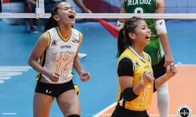 Tiebreaker Times Cherry Rondina, UST Tigresses earn twice-to-beat advantage, stump La Salle DLSU News UAAP UST Volleyball  UST Women's Volleyball UAAP Season 81 Women's Volleyball UAAP Season 81 Rica Rivera Ramil De Jesus Kungfu Reyes Jolina Dela Cruz Eya Laure DLSU Women's Volleyball Cherry Rondina Alina Bicar