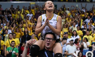 Tiebreaker Times Sisi Rondina knows only way to repay UST is with a championship News UAAP UST Volleyball  UST Women's Volleyball UAAP Season 81 Women's Volleyball UAAP Season 81 Cherry Rondina