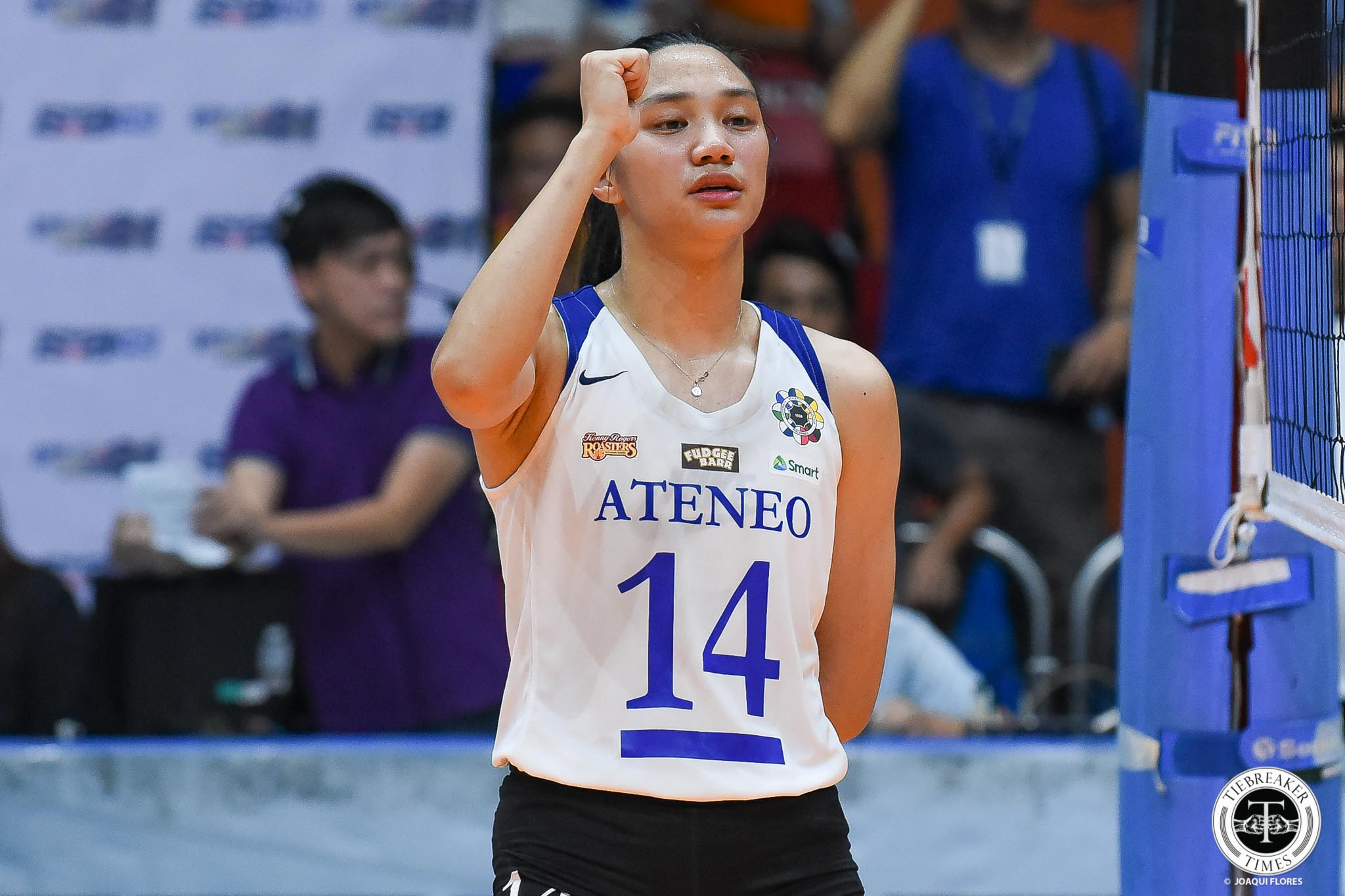 Tiebreaker Times De Leon starts as a champion, exits as a champion ADMU News UAAP Volleyball  UAAP Season 81 Women's Volleyball UAAP Season 81 Bea De Leon Ateneo Women's Volleyball