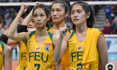 Tiebreaker Times Lycha Ebon shows solidarity as 'ates' go to work for FEU FEU News UAAP Volleyball  UAAP Season 81 Women's Volleyball UAAP Season 81 Lycha Ebon Jerrili Malaban George Pascua FEU Women's Volleyball
