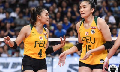 Tiebreaker Times FEU Lady Tamaraws force do-or-die, slip past Ateneo ADMU FEU News UAAP Volleyball  UAAP Season 81 Women's Volleyball UAAP Season 81 Oliver Almadro Maddie Madayag Kat Tolentino Jeanette Villareal Heather Guino-o George Pascua Gel Cayuna FEU Women's Volleyball Buding Duremdes Ateneo Women's Volleyball
