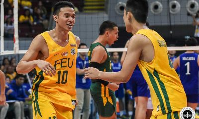 Tiebreaker Times FEU Tamaraws clinch long-awaited Finals return, drop Ateneo ADMU FEU News UAAP Volleyball  UAAP Season 81 Men's Volleyball UAAP Season 81 Tony Koyfman Timothy Santo Tomas Rey Diaz Owen Suarez Jude Garcia JP Bugaoan Jeremiah Barrica Janjan Rivera FEU Men's Volleyball Ateneo Men's Volleyball