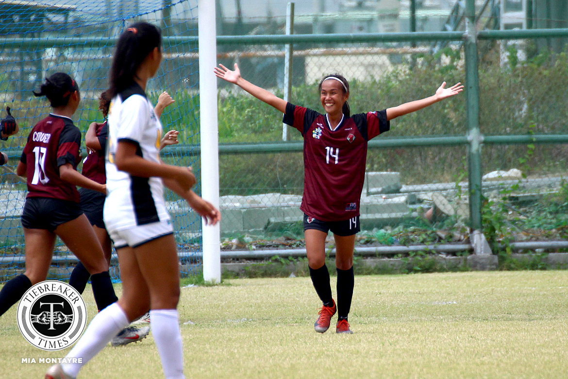 Tiebreaker Times Sofia Dungca strikes as UP resurrects post-season hopes at UST's expense Football News UAAP UP UST  UST Women's Football UP Women's Football UAAP Season 81 Women's Football UAAP Season 81 Sofia Dungca Nicole Adlawan Hazel Lustan Bhebe Lemoran Beatriz Sacdalan Anto Gonzales Aging Rubio