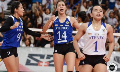 Tiebreaker Times Ateneo Lady Eagles reign again in UAAP Women's Volleyball, overwhelm UST ADMU News UAAP UST Volleyball  UST Women's Volleyball UAAP Season 81 Women's Volleyball UAAP Season 81 Ateneo Women's Volleyball
