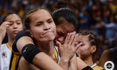 Tiebreaker Times Eya Laure makes vow to Rondina: 'Mamahalin ko rin yung UST' News UAAP UST Volleyball  UST Women's Volleyball UAAP Season 81 Women's Volleyball UAAP Season 81 Eya Laure