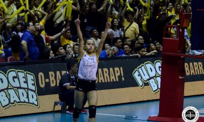 Tiebreaker Times Revived UST community energizes Tigresses in Game One News UAAP UST Volleyball  UST Women's Volleyball UAAP Season 81 Women's Volleyball UAAP Season 81 Kungfu Reyes Eya Laure Cherry Rondina