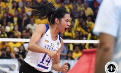 Tiebreaker Times Bea De Leon, Maddie Madayag prepare to bring One Big Fight, one last time ADMU News UAAP Volleyball  UAAP Season 81 Women's Volleyball UAAP Season 81 Maddie Madayag Bea De Leon Ateneo Women's Volleyball