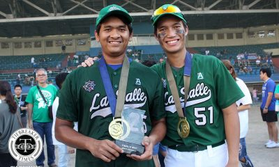 Tiebreaker Times Kiko Gesmundo can finally say he has a championship of his own Baseball DLSU News UAAP  UAAP SEASON 81 Baseball UAAP Season 81 Kiko Gesmundo DLSU Baseball
