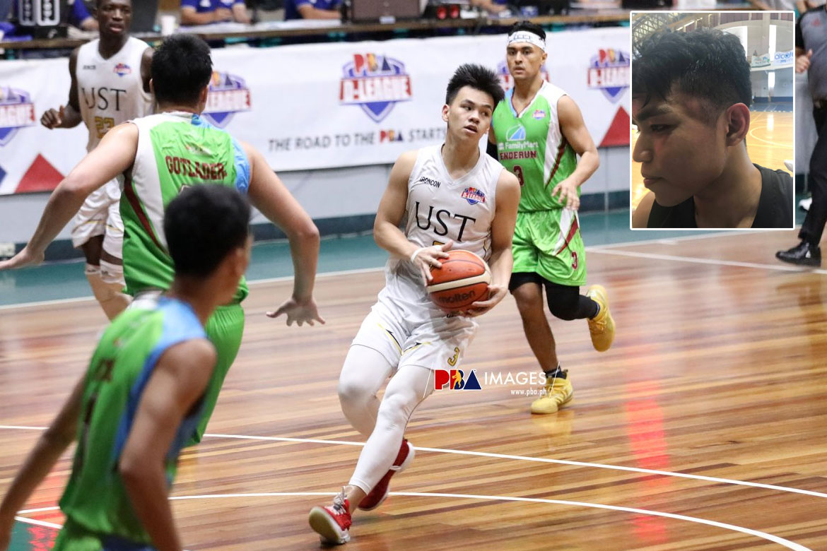Tiebreaker Times Enderun Titans, UST Growling Tigers figure in bench-clearing brawl in BBI Basketball News UST  UST Men's Basketball Pipo Noundou Mike Dela Cruz Mark Gatdula Joaqui Mariano Enderun Colleges Titans Coco Tancioco Brent Paraiso 2019 BBI Season