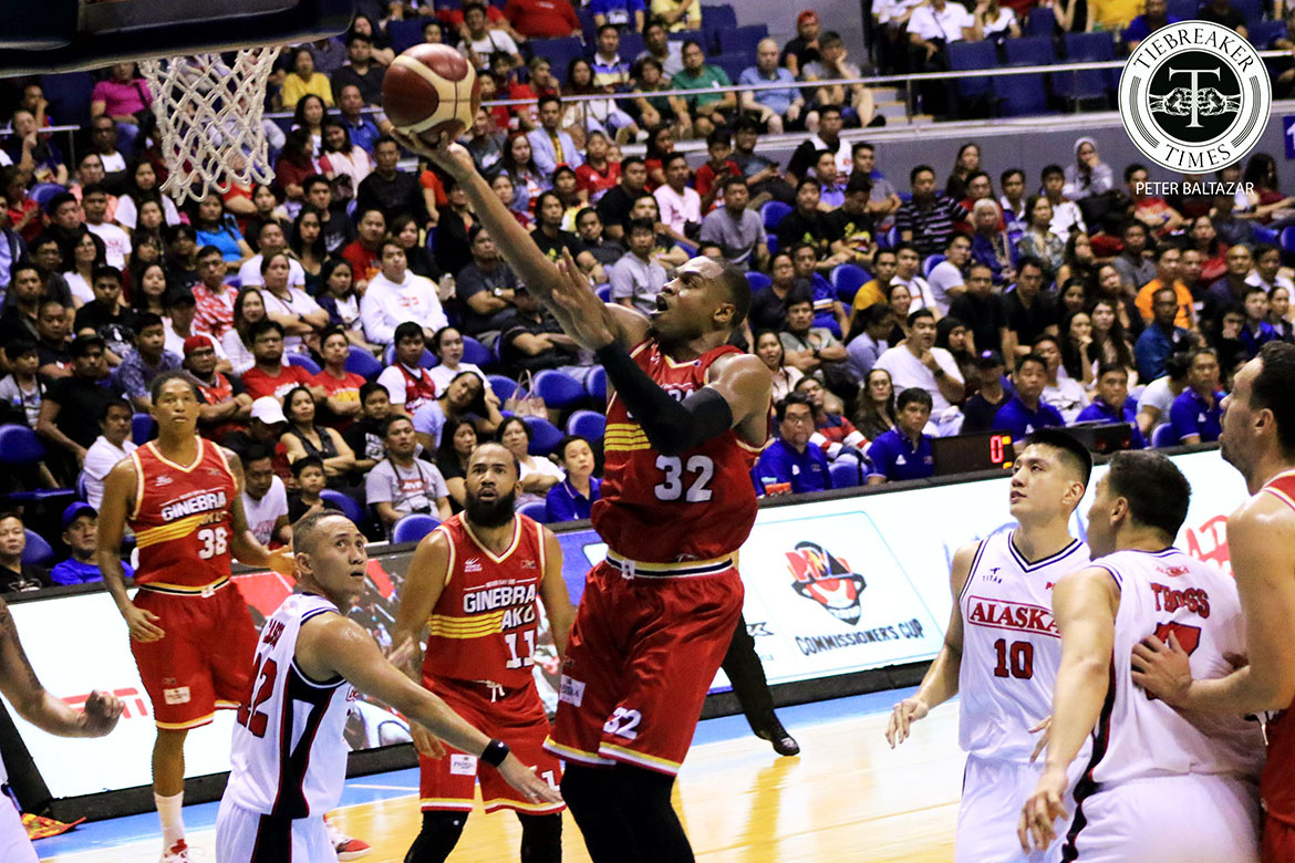 Tiebreaker Times Justin Brownlee relieved to see balanced Ginebra scoring Basketball News PBA  PBA Season 44 Justin Brownlee Barangay Ginebra San Miguel 2019 PBA Commissioners Cup