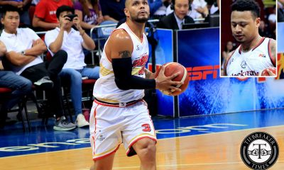 Tiebreaker Times Sol Mercado will always have Ray Parks' back Basketball News PBA  Sol Mercado PBA Season 44 Calvin Abueva Bobby Ray Parks Jr. Barangay Ginebra San Miguel 2019 PBA Commissioners Cup