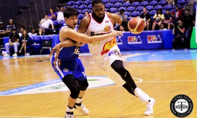 Tiebreaker Times Denzel Bowles offers no excuses, shrugs off scary ankle roll Basketball News PBA  Rain or Shine Elasto Painters PBA Season 44 Denzel Bowles 2019 PBA Commissioners Cup