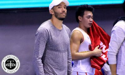Tiebreaker Times Jared Dillinger makes promise to Ginebra crowd: 'When I'm already 100%, I will play right away' Basketball News PBA  PBA Season 44 Jared Dillinger Barangay Ginebra San Miguel 2019 PBA Commissioners Cup