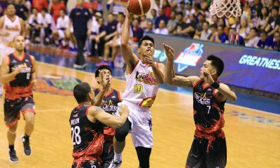 Tiebreaker Times Seeing fellow Nambatac snap out of funk, Javee Mocon does the same Basketball News PBA  Rain or Shine Elasto Painters PBA Season 44 Javee Mocon Caloy Garcia 2019 PBA Commissioners Cup