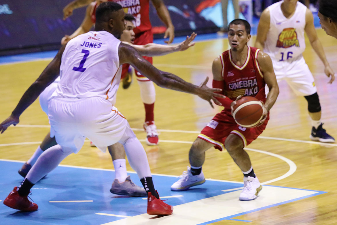Tiebreaker Times Terrence Jones accuses LA Tenorio of punching him Basketball News PBA  TNT Katropa Terrence Jones PBA Season 44 LA Tenorio Barangay Ginebra San Miguel 2019 PBA Commissioners Cup