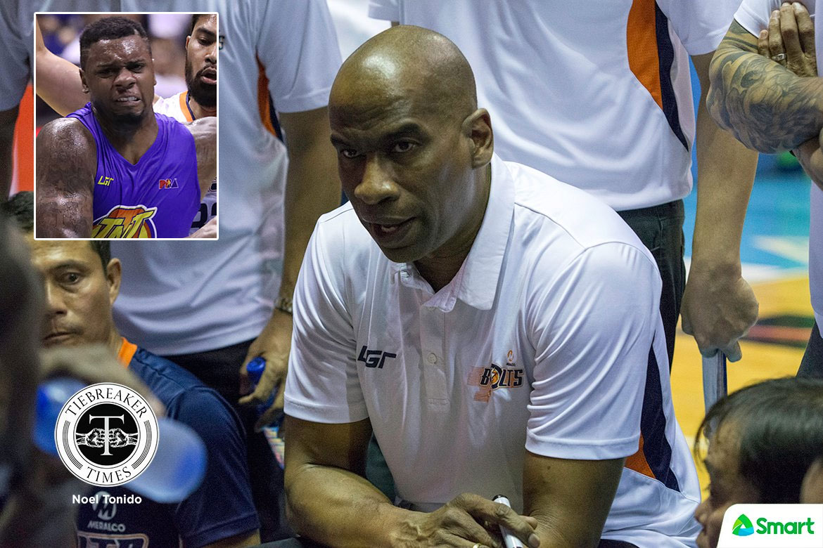 Tiebreaker Times Despite Terrence Jones' scoring outbursts, Norman Black says he is still far from the best Basketball News PBA  TNT Katropa Terrence Jones PBA Season 44 Norman Black Meralco Bolts 2019 PBA Commissioners Cup