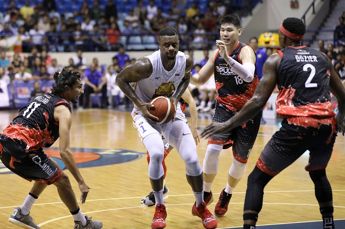 Tiebreaker Times Terrence Jones denies hitting Abueva: 'I know I didn't put my hand towards any man's groin area' Basketball News PBA  TNT Katropa Terrence Jones PBA Season 44 2019 PBA Commissioners Cup