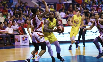 Tiebreaker Times TNT weathers Pessumal's historic outing, San Miguel for back-to-back wins Basketball News PBA  Von Pessumal Troy Rosario TNT Katropa Terrence Jones San Miguel Beermen Roger Pogoy PBA Season 44 Marcio Lassiter Leo Austria June Mar Fajardo Jayson Castro Don Trollano Charles Rhodes Bong Ravena Anthony Semerad 2019 PBA Commissioners Cup