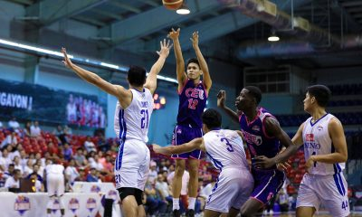 Tiebreaker Times Derrick Pumaren made sure that Santos, CEU believe that they belong in D-League Finals Basketball News PBA D-League  Jerome Santos Derrick Pumaren CEU Scorpions 2019 PBA D-League Season