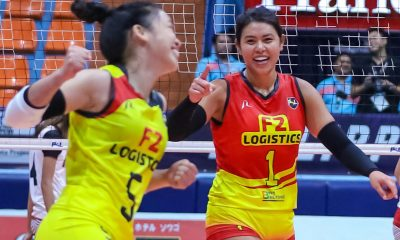 Tiebreaker Times Debuting Kalei Mau, F2 Logistics slip past PLDT News PSL Volleyball  Roger Gorayeb Ramil De Jesus PLDT Home Fibr Power Hitters Michelle Cobb Majoy Baron Kim Dy Kalei Mau Grethcel Soltones Gen Casugod F2 Logistics Cargo Movers Dawn Macandili Aby Marano 2019 PSL Season 2019 PSL All Filipino Conference