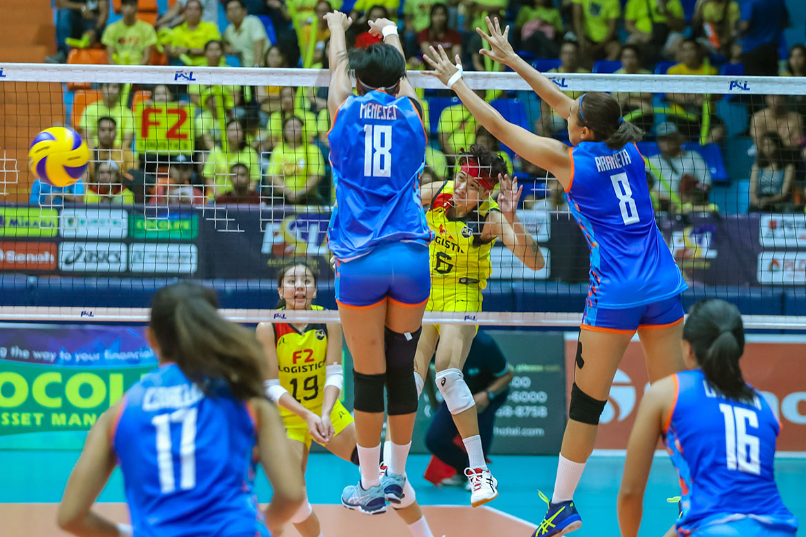 Tiebreaker Times F2 Logistics opens PSL AFC in style, sweeps Generika-Ayala News PSL Volleyball  Sherwin Meneses Ramil De Jesus Michelle Cobb Generika-Ayala Lifesavers Fiola Ceballos F2 Logistics Cargo Movers Dawn Macandili Ara Galang Aby Marano 2019 PSL Season 2019 PSL All Filipino Conference