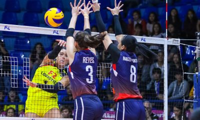 Tiebreaker Times Kalei Mau proves to be difference as F2 Logistics deals Petron first loss News PSL Volleyball  Shaq delos Santos Ramil De Jesus Petron Blaze Spikers Michelle Cobb Kalei Mau F2 Logistics Cargo Movers Dawn Macandili Ces Molina Bernadeth Pons Ara Galang 2019 PSL Season 2019 PSL All Filipino Conference