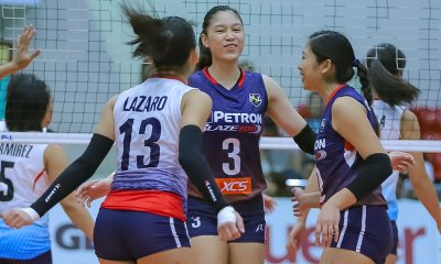 Tiebreaker Times Mika Reyes, Petron open title defense with romp of Marinerang Pilipina News PSL Volleyball  Shaq delos Santos Ron Dulay Rhea Dimaculangan Petron Blaze Spikers Marinerang Pilipina Denden Lazaro 2019 PSL Season 2019 PSL All Filipino Conference
