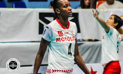 Tiebreaker Times Motolite taps Trinidad and Tobago's Krystle Esdelle as new import News PVL Volleyball  motolite power builders Krystle Esdelle Godfrey Okumu Edina Selimovic Air Padda 2019 PVL Season 2019 PVL Reinforced Conference