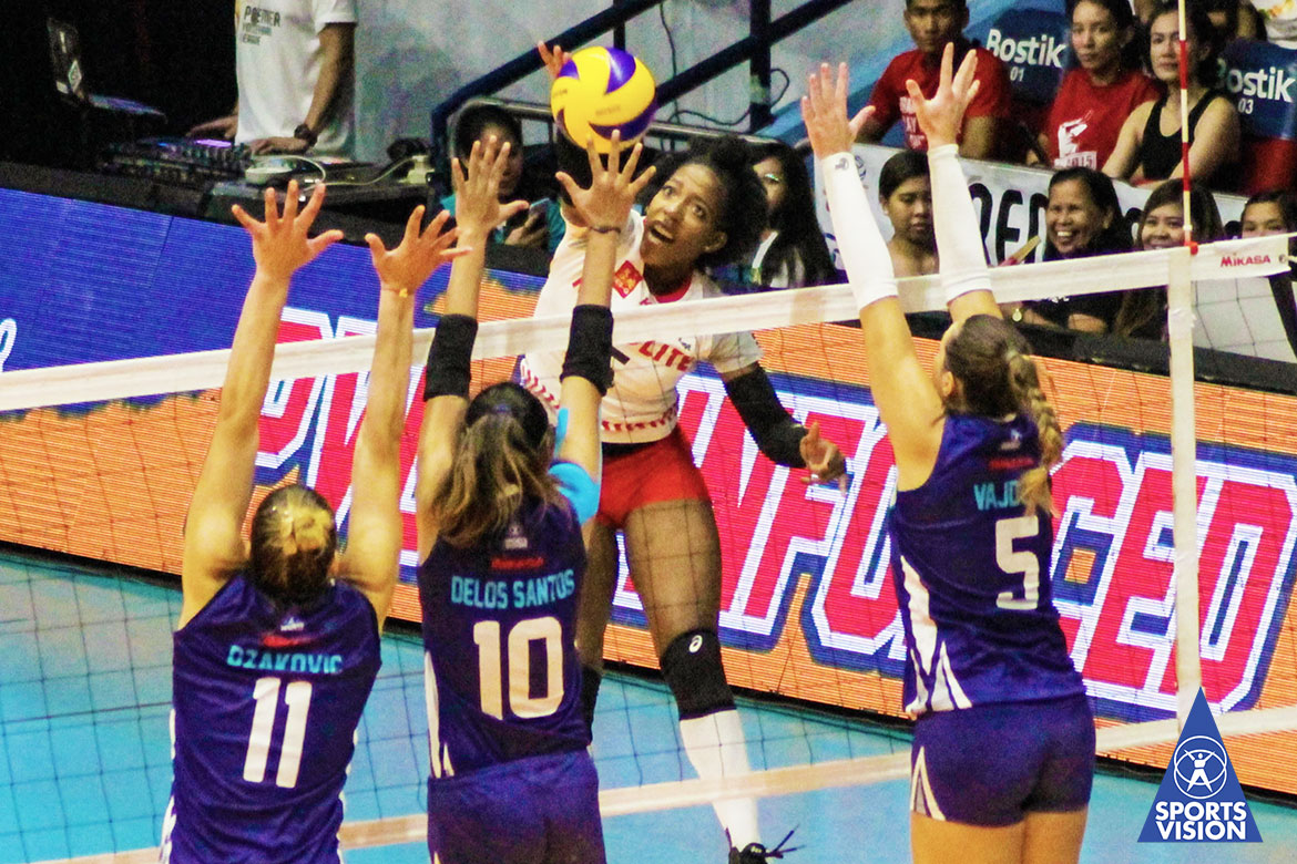 Tiebreaker Times Motolite boots out Bali Pure in come-from-behind fashion News PVL Volleyball  Thang Ponce Rommel Abella motolite power builders Krystle Esdelle Krystle Edelle Grazielle Bombita Dani Dzakovic Channon Thompson Bali Pure Purest Water Defenders Ayel Estranero Alexandra Vajdova Air Padda 2019 PVL Season 2019 PVL Reinforced Conference
