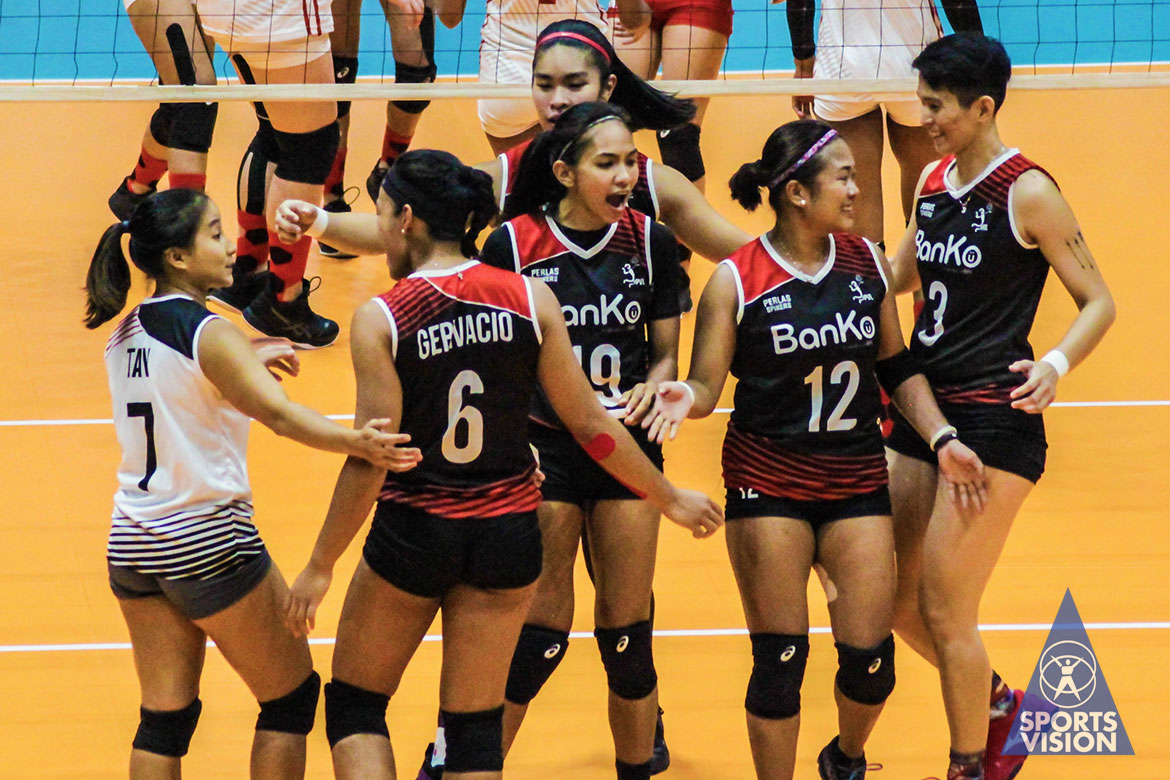 Tiebreaker Times BanKo escapes Motolite, keeps playoff hopes alive News PVL Volleyball  Yashemin Yildrim Sue Roces Perlas Lady Spikers Nicole Tiamzon Myla Pablo motolite power builders Krystle Esdelle Kathy Bersola Jem Ferrer Ella De Jesus Chuewulim Sutadta Channon Thompson Apichat Kongsaiwat Air Padda 2019 PVL Season 2019 PVL Reinforced Conference