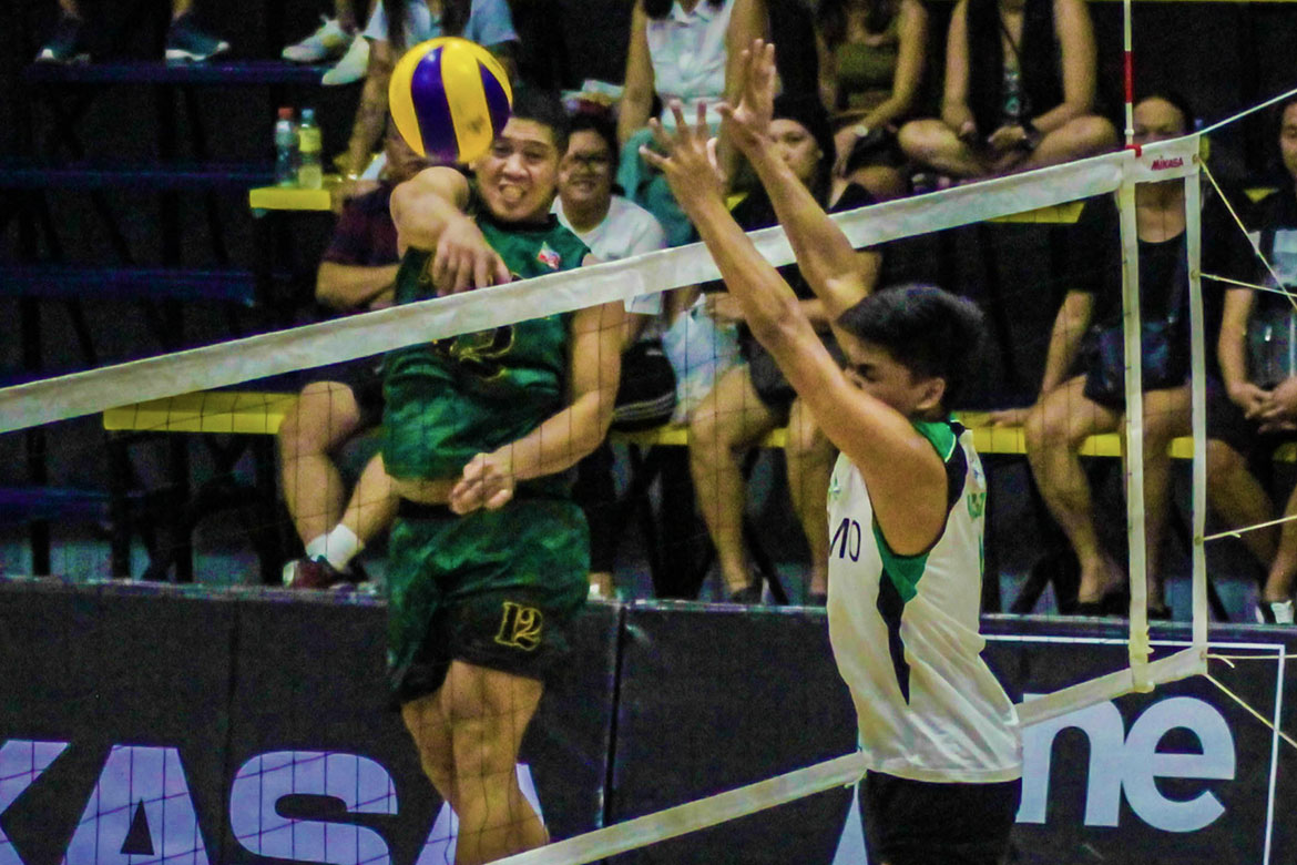 Tiebreaker Times De Guzman lifts PLDT to bounce back win; Army, Navy create tie at fourth CSB DLSU News Spikers' Turf Volleyball  VNS Volleyball Club Griffins Tony Koyfman Rico De Guzman PLDT Home Fibr Power Hitters PJ Rojas Philippine Navy Sea Lions Philippine Coast Guard Dolphins Philippine Army Troopers Pao Pablico Odjie Mamon Mark Alfafara Joshua De Sequerra John Vic De Guzman Greg Dolor Esmail Casim Edgardo Rusit Animo Green Spikers 2019 Spikers Turf Season 2019 Spikers Turf Reinforced Conference