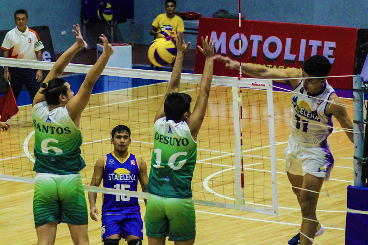 Tiebreaker Times Short-handed Rebisco sweeps Animo; Sta. Elena, VNS pick up back-to-back wins CSB DLSU News NU Spikers' Turf Volleyball  VNS Volleyball Club Griffins Vince Abrot Sta. Elena Wrecking Balls Rex Intal Rebisco-Philippines Razzel Palisoc RanRan Abdilla Ralph Ocampo Philippine Coast Guard Dolphins Jeremy Merat IEM Volley Masters Fauzi Ismail Esmal Kasim Edward Camposano Dante Alinsunurin Berhashidin Daymil Animo Green Spikers 2019 Spikers Turf Season 2019 Spikers Turf Reinforced Conference