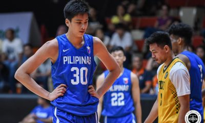 Tiebreaker Times Kai Sotto dominates in Gilas Youth tune-up versus Al Rayyan Basketball Gilas Pilipinas News  Sandy Arespacochaga Rhayyan Amsali Kai Sotto Gilas Pilipinas Youth Gerry Abadiano Geo Chiu Dalph Panopio Al Rayyan AJ Edu 2019 FIBA Under-19 World Cup