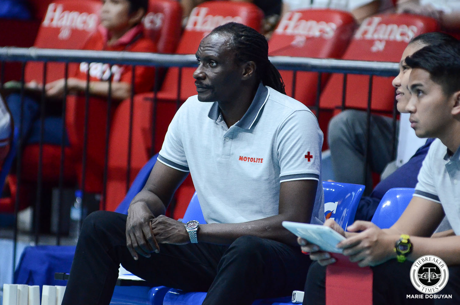 Tiebreaker Times Godfrey Okumu airs frustration on Motolite-Choco Mucho officiating: 'How bad can they be?' News PVL Volleyball  Motolite Godfrey Okumu 2019 PVL Season 2019 PVL Open Conference