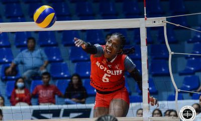 Tiebreaker Times Channon Thompson, surging Motolite dig deep, get back at PacificTown–Army News PVL Volleyball  Thang Ponce Royse Tubino Pacific Town-Army Lady Troopers Olena Lymareva-Flink motolite power builders Kungfu Reyes Krystle Esdelle Jenelle Jordan Channon Thompson Ayel Estranero Air Padda 2019 PVL Season 2019 PVL Reinforced Conference