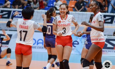 Tiebreaker Times Motolite picks up first win at skidding Bali Pure's expense News PVL Volleyball  Tots Carlos Thang Ponce Rommel Abella motolite power builders Marist Layug Krystle Esdelle Fhen Emnas Danijela Djakovic Channon Thompson Bali Pure Purest Water Defenders Air Padda 2019 PVL Season 2019 PVL Reinforced Conference